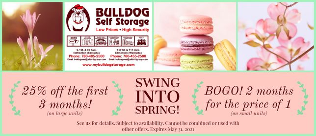 Bulldog Self Storage Spring 2021 Specials