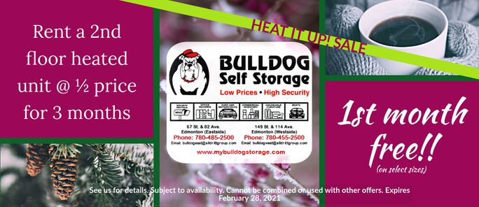 Bulldog Self Storage Winter 2020 Specials